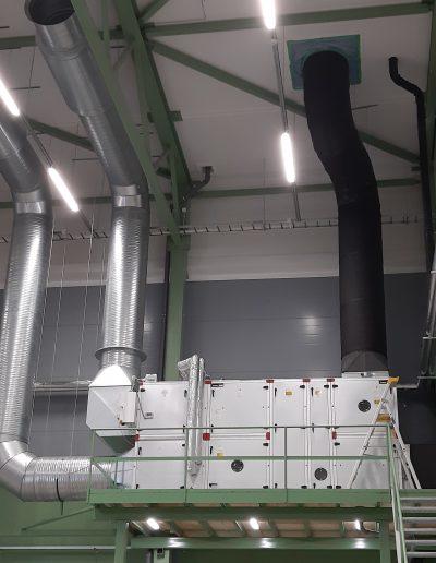 Suuri ilmastointijärjestelmä isolle hallille, LVI-HEVI toteuttaa.